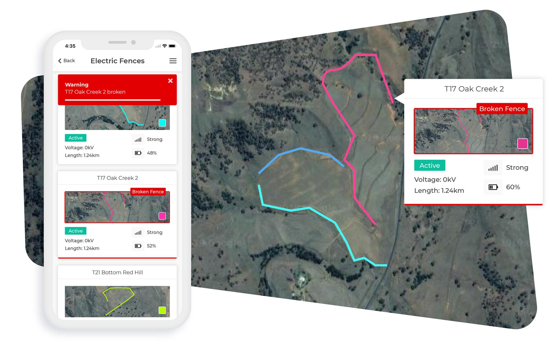 electric fences monitoring farmdeck;
