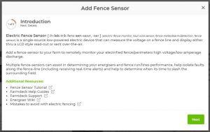Add a fence sensor