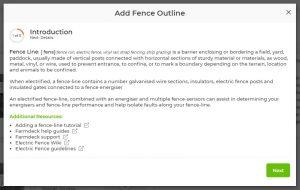 Add a fence line